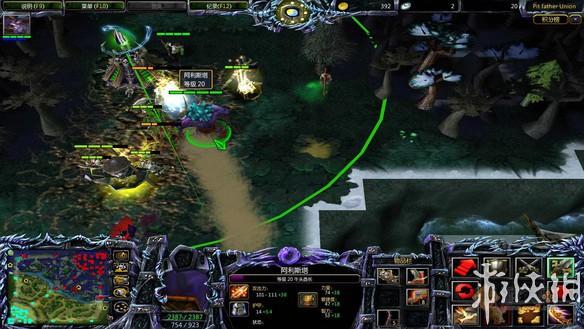 网友制作《魔兽争霸3》地图 lol,dota英雄同图对战