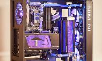 用迎广805c机箱打造流沙质感水冷液