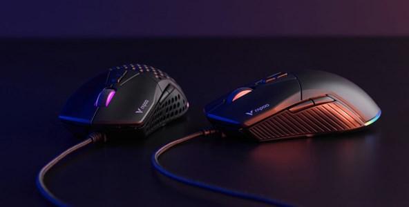 轻量模块DIY 雷柏V360模块化幻彩RGB游戏鼠标上市
