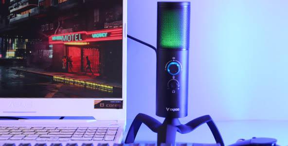 声色兼备,雷柏VS500双指向RGB背光游戏麦克风开箱