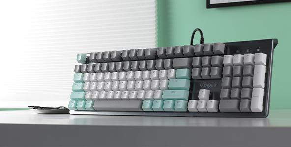 雷柏V530椰林莫吉托防水背光游戏机械键盘上市
