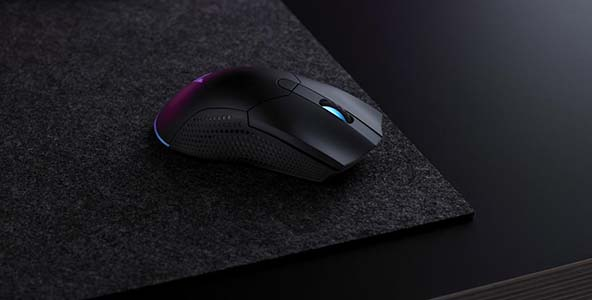 92g轻量化,雷柏V350双模版幻彩RGB游戏鼠标上市