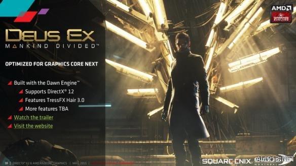 《杀出重围:人类分裂(Deus Ex: Mankind Divided)》首发支持DX12和海飞丝3