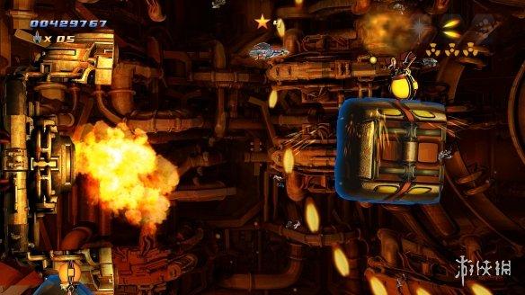 街机风格2D横版动作射击游戏《旋风战机EX》专题上线