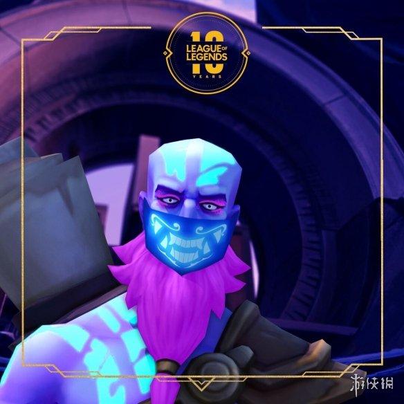 《英雄联盟》官推新图瑞兹戴着阿卡丽口罩现身 KDA男团?