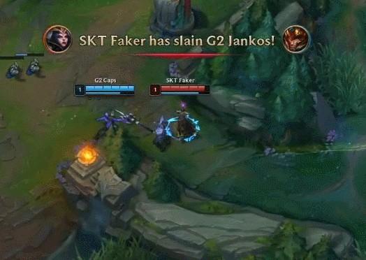 G2 VS SKT SKT酒桶亚索神配合破G2 扳回一局