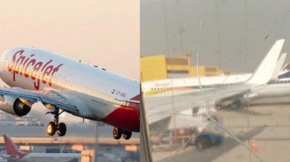 飞机机窗破裂用胶带粘后继续飞?是印度啊 那没事了