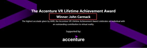 3D游戏之父获得终身成就奖直言VR现状并不令人满意
