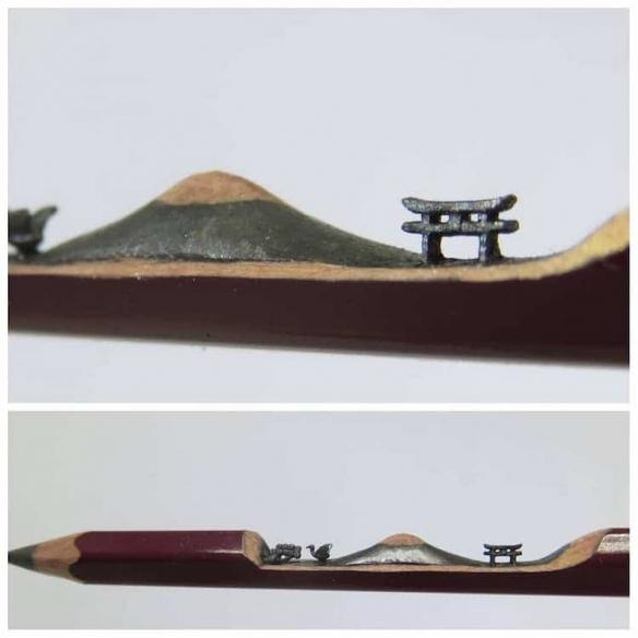 化铅笔芯为链条?台湾笔雕大神李建竹笔芯雕刻作品赏