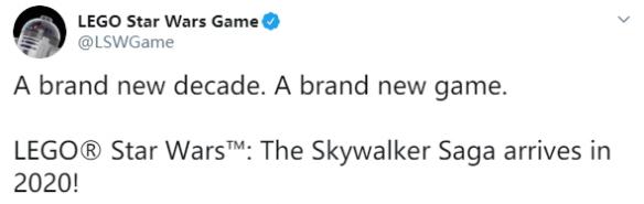 《乐高星战:天行者传奇》发布新宣传片2020年发售