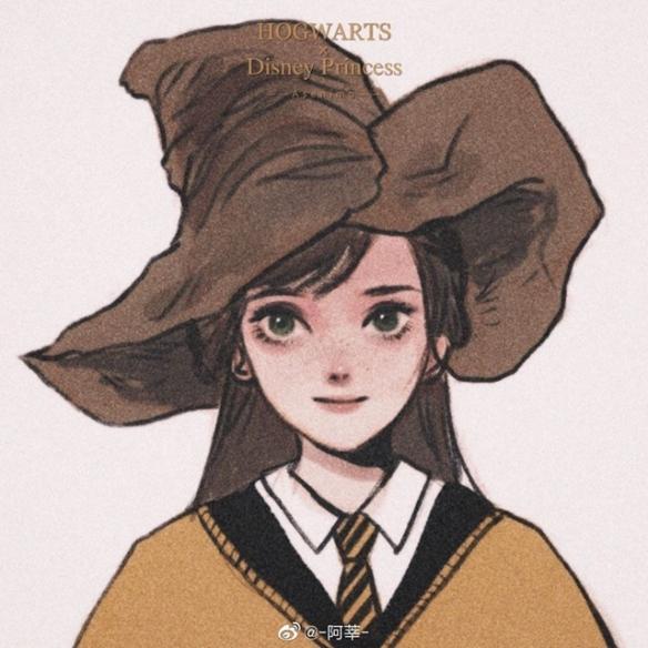 迪士尼公主入学霍格沃茨证件照:青春洋溢的小姐姐!