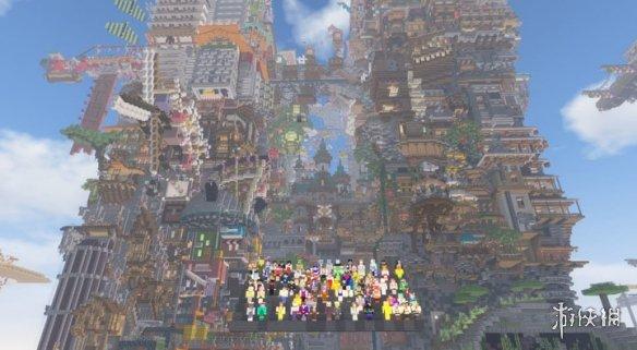 """100多位玩家合力打造《我的世界》超大""""违章建筑"""""""