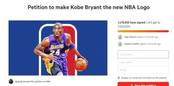 众人请愿:将科比形象作为NBA的新LOGO!