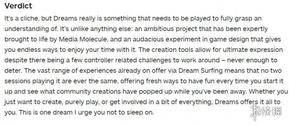 《梦境》获得IGN9分高评:充满雄心壮志的无限世界