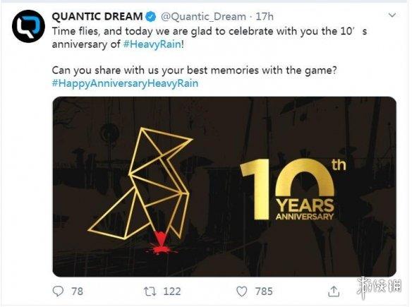 《暴雨》庆祝发售十周年!分享游戏封面上纸鸟的密招