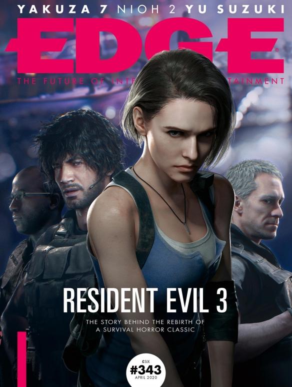 《生化危机3:重制版》吉尔性感亮相Edge杂志封面!