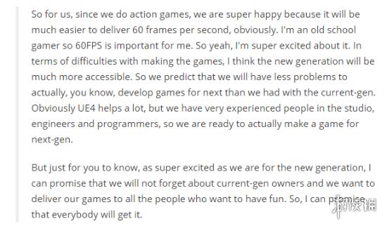 《影子武士2》开发商:60帧对于次世代主机毫无问题