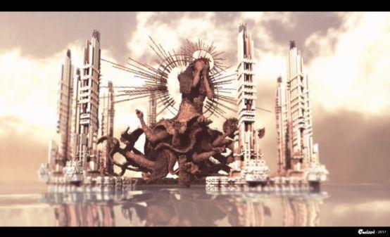 《我的世界》大神随手建造人形巨像秀操作 网友