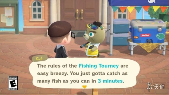 《动森》钓鱼大赛火热进行中 没有魔法棒咱有鱼儿棒!