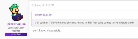外媒记者:PS5的游戏演示还要在等等 还要几个星期