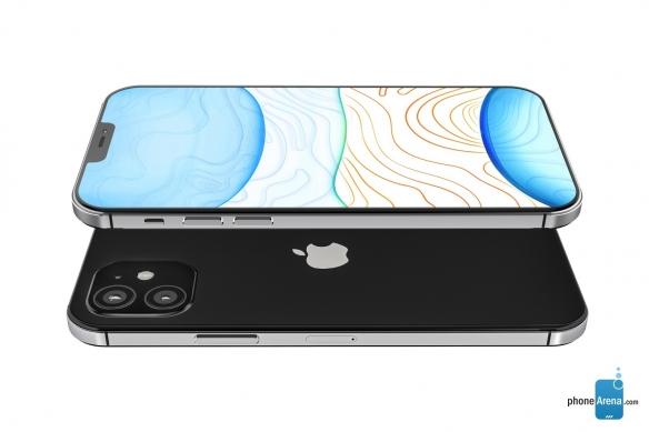 iPhone 12曝光高清渲染图:刘海变小!边框下巴极窄