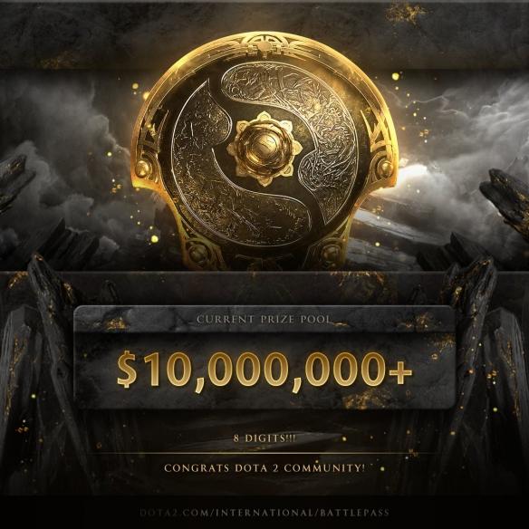 玩家的热情难挡!《Dota2》Ti10奖池突破1000万美元