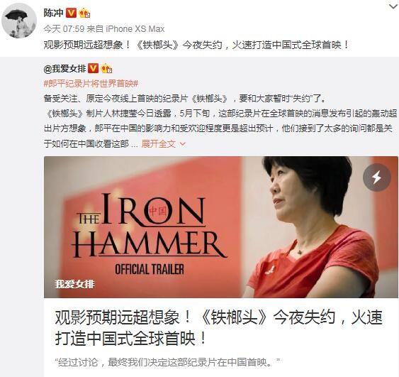 纪录片《铁榔头》改为中国首映:观影预期远超想象!