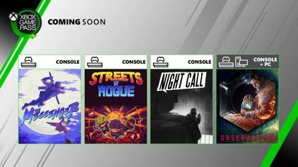 微软6月XGP追加游戏阵容公布 《信使》《观测号》等
