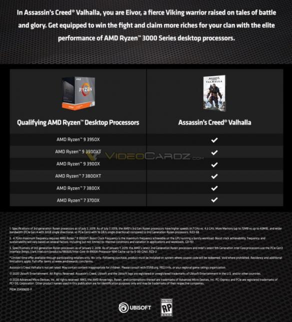 AMD大搞促销活动:买CPU就送《刺客信条:英灵殿》