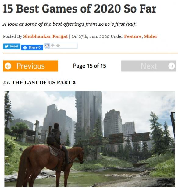 能不能提前锁定年度最佳?目前2020年最佳15款游戏