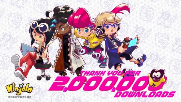 《Ninjala》 下载量突破200万!官方公布庆祝贺图