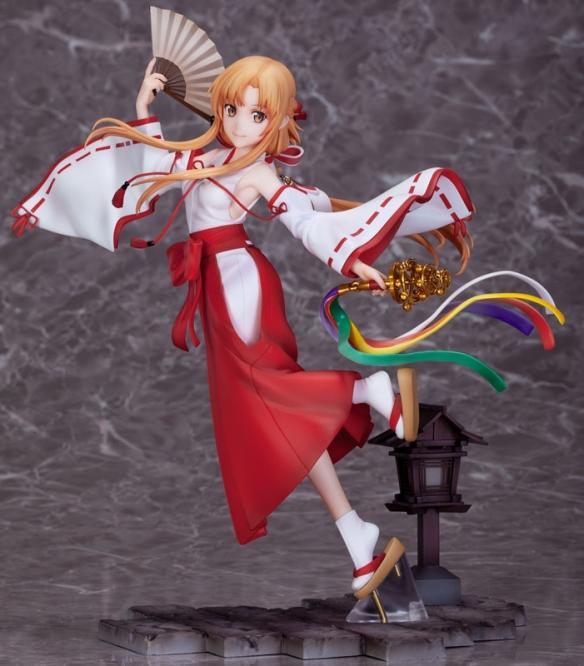 《刀剑神域》亚丝娜巫女服手办 绝美造型过于撩人!