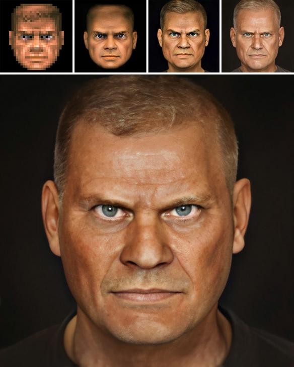 国外摄影师用AI复原历史人物肖像 猛男大卫有点