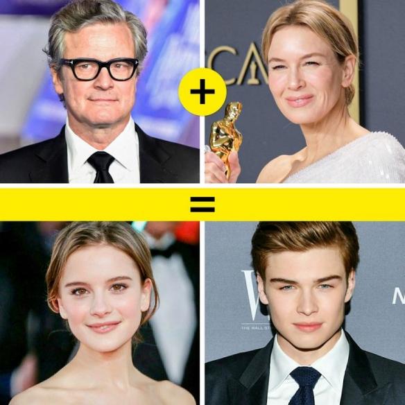 好莱坞荧幕情侣假如有了孩子!你们觉得谁最好看呢?