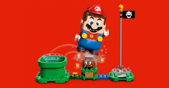 用乐高马里奥玩具玩《超级马里奥》?高玩又整新花样