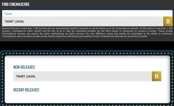 诺兰翻车?《信条》外媒影院评分为B:榜单最低!