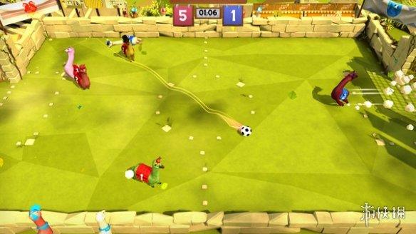 沙雕足球游戏《草泥马足球:全明星》即将上线Steam