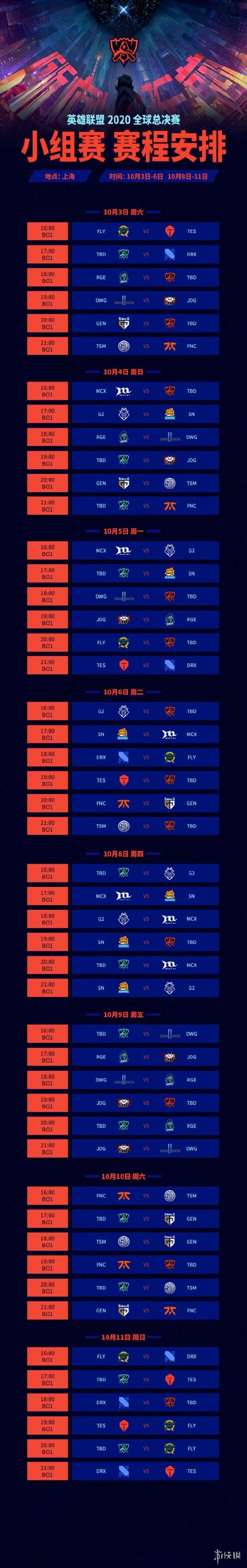 《英雄联盟》S10赛程公布!LGD入围赛首日迎战PSG