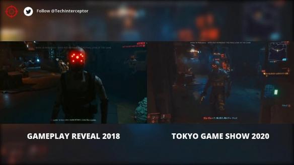 《赛博2077》TGS预告VS 2018预告 画面效果更棒!