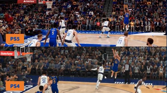 《NBA 2K21》PS5与PS4对比!直逼现实的光影效果