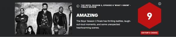 《黑袍纠察队》第二季IGN评分9分:还是一样的爽!
