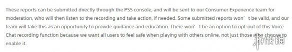 索尼:PS5审查录音功能将严格记录语音骚扰!无法退出