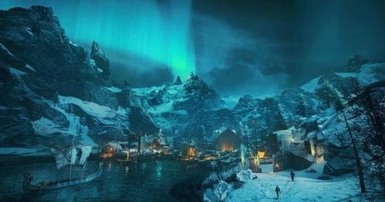 《刺客信条:英灵殿》新画面:城镇、巨石阵和极光展示