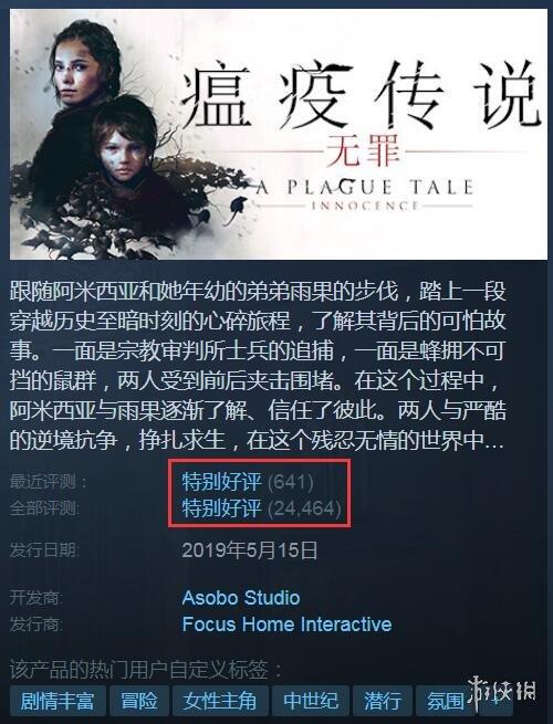好评才是王道!盘点Steam上香爆的PC单机游戏(中)