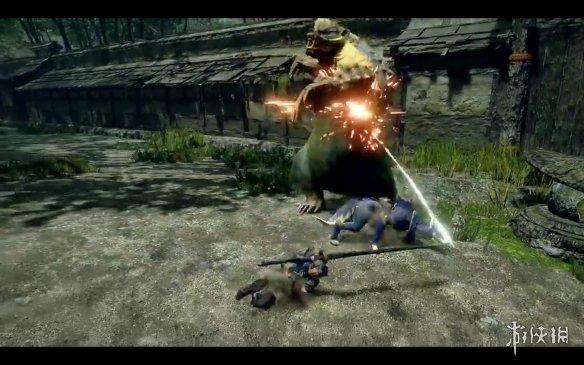 《怪猎:崛起》牙猎犬战斗演示!可与玩家攻击连携