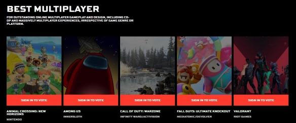 2020年TGA大奖候选游戏公布 《美国末日2》提名刷榜!