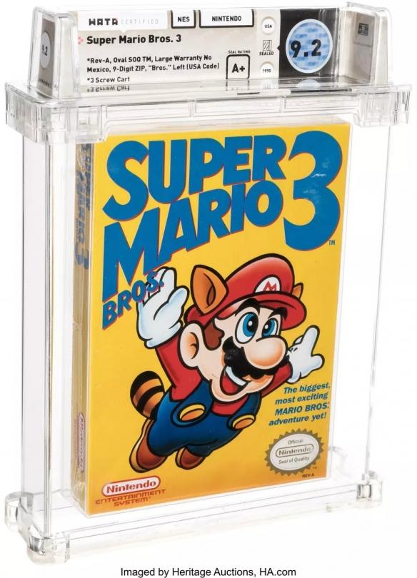 初版《马里奥兄弟3》拍出15.6万美元 成史上最贵游戏