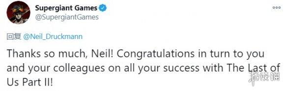 《美末2》编剧Neil发推祝贺《哈迪斯》获IGN年度游戏