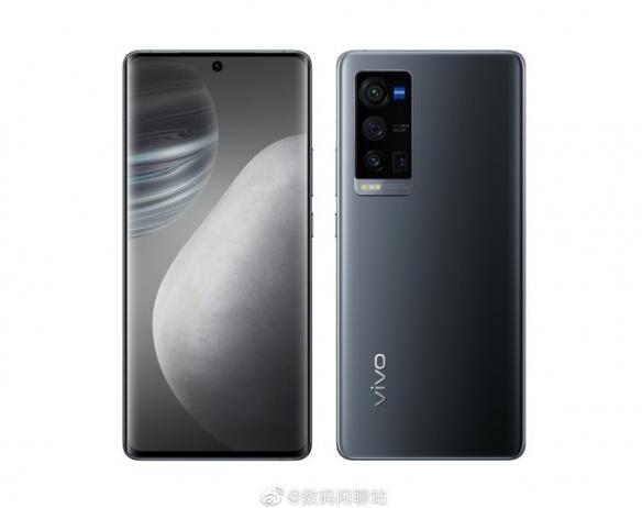 VIVO X60 Pro+渲染图曝光 居中单孔屏 矩阵摄像头