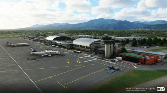 Orbx为《微软飞行模拟》推出巴斯蒂亚机场插件包